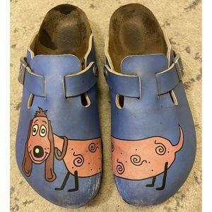 Birkenstock Birkis Slip On Leather Slides Mules 8